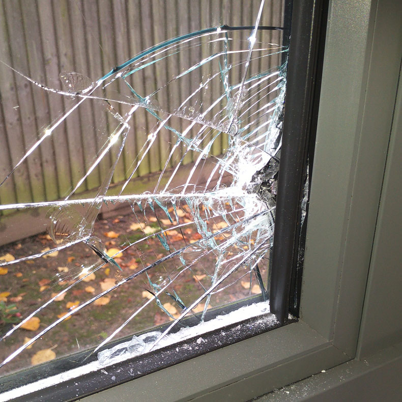 Broken Window - Burglary - Buckhurst Hill - Misty Glaze