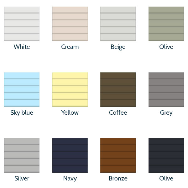 Integral Blind Colours - Blinds Between Window Colours - Essex - London - Hertfordshire
