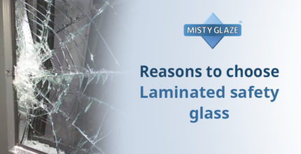 Laminated Safety Glass - Buckhurst Hill - Misty Glaze