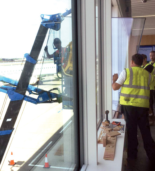 Large Window Repairs - Airport Window Specialist - London City Airport - Misty Glaze