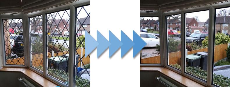 Leaded Windows Replacements   Misty Glaze